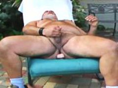 jerking off, mark, toys, bearish, older, jerking, chubby, dildo play, fat, outside, mature, daddy, dildos