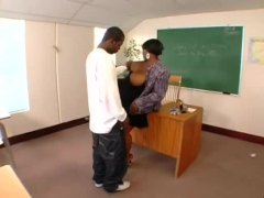 Fat black teacher nailed by student