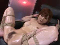 humiliation, bang, japanese, gang, hot sauce, rope bondage, hairy pussy