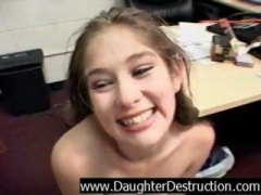 throatfuck, daughter, blowjob, violate, brutal, humiliation, extreme, daddy, abuse
