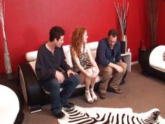 Audrey Hollander, nice, audrey, double penetration, group, redhead, audrey hollander, fucked