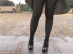 pantyhose, playing, stockings, milf, masturbation, outdoor, matures, sexy