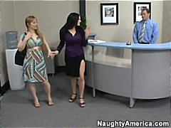 office, boss, tits, ffm, staff, big, wife, fucking, facial, redhead, brunette, hardcore, mature