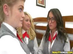 schoolgirls, each, group sex, schoolgirl, three, do, fay, gangbang, other, group