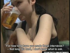 reality, brunette, amateur, outdoors, blowjob, handjob, teen, public, czech, homemade,