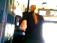 bus, hidden cams, sexy, police, woman, flashing, public nudity