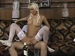 cumshot, lingerie, tits, kissing, pigtail, facial, pigtails, stockings, spanked, couch, pornstar, riding