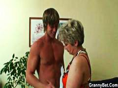 neighbor, granny, boy, blonde, chubby, having, old young, mature, smoke, was
