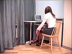 pantyhose, lingerie-videos.com, fetish, fucking, babe, nylons, office, crotchless pantyhose, sheer, sex
