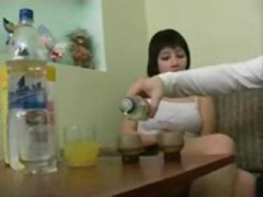 drunk, gets, seduced, blowjob, brunette, sucking, action, anal, anya, fucking
