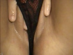masturbating, solo, pussy, wet, fingering, panties, brunette, amateur