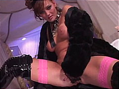 pussy, fingering, solo, brunette, latex, stripping, stockings, boots, glamorous, beauty
