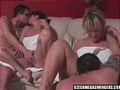 Czech amateurs at biggest swingers party