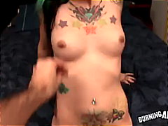 fingering, punk, tattoo, burningangel.com, round-ass, pov, emo, big-cock, blowjob