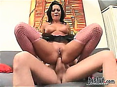 Sandra Romain, boobs, anal, romain, sandra, swallow, fishnet, sandra romain, toys, brunette, big