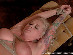 maid, blonde, spanking, couple, cum shot, caucasian, tattoos, big tits, bondage, shaved, blowjob, deepthroat