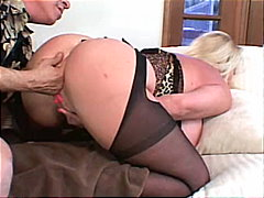 gros seins, blondes, couple, pipes