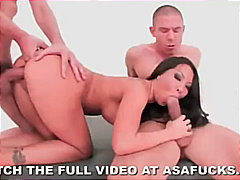 Asa Akira, pornstar, bubble-butt, threesome, asian, facial, asa akira, rough-sex, anal