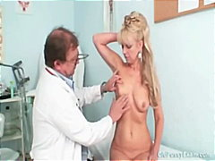 mature, doctor, old, kinky, granny, fetish, gyno, speculum, blonde, milf, clinic, oldpussyexam.com