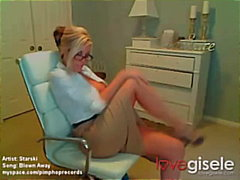 webcam, tiete, strip, blond, amateur, self gemaak, bril