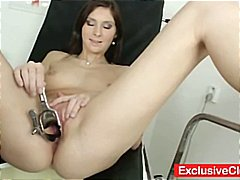 cougar, small tits, european, busty, speculum, babe, orgasm, brunette, toys, masturbating, gaping hole, milf, mature