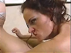 Audrey Hollander, brunette, fisting, tattoo, doggystyle, fetish, kissing, threesome, tight