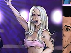 Britney spears nude by sinful comics celebrity porn cartoons