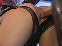 fetish, harter sex, frivol, blond, großer schwanz, cumshot, leder, latex