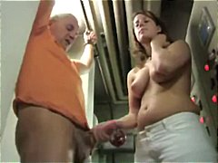 handjob, cumshot, female domination, brünette, deutsch