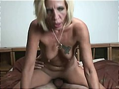 Sexy cougar smoking sex with stepson