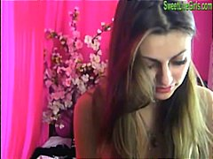 Brunette teen playing with a pink dildo6.wmv