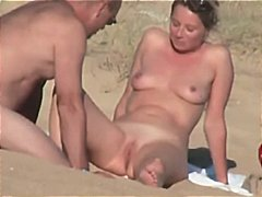 sexy, beach, french, shaved pussy, couple, hidden, nude
