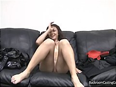 Hot brunette amateur comes to the casting couch and get drilled