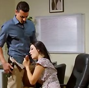 high heels, footjob, blouse, brunette, beauty, blowjob, office, upskirt