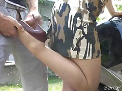 stockings, foot fetish, fetish, outdoor, amateur