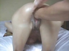 A creamy pussy punch fucking