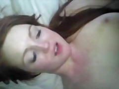 Red head first anal creampie