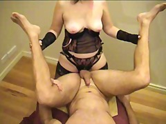 Sexy woman strapon fucks guy- amateur