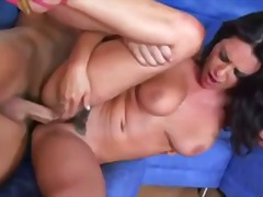 Charley Chase, hairy, big tits, hardcore, blowjob, brunette, fake tits, high heels, big cock