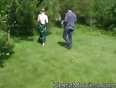 group, outdoors, blowjob, teen, gangbang, keezmovies, teenager, blonde, public, hardcore
