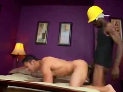 Long black cock sliding his tight ass