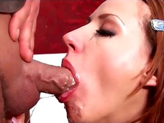 blowjob, gagging, deepthroat, messy, facefuck, brunette, european