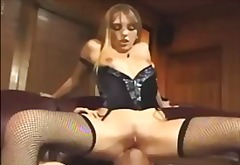 corset, lingerie, smother, lingerie-videos.com, garter, facesitting, fishnet, muffdive, cunnilingus, oral, stockings