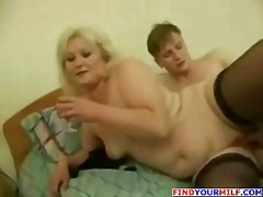 milf, granny, chubby, mature, nylon, mom, blonde, bbw