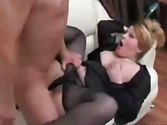 Sexy russian mature lady boss and employee  russian cumshots swallow