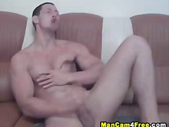 hard, dick, muscle, gym, masturbating, cock, hunk, penis