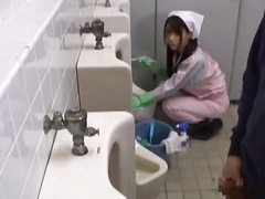 outdoor, asian, voyeur, bathroom, japanese, fetish, uniform, shower, blowjob, public