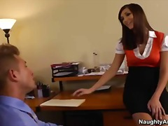 Sexy secretary holly michaels rides her bosss big cock