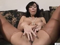 milf, big-boobs, anilos.com, masturbation, bigtit, brunette, huge-tits, cougar, shaved-pussy, nylons, black-hair, solo