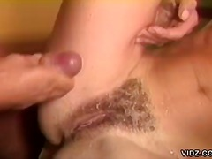 Horny pussy licked, and fucked by huge cock